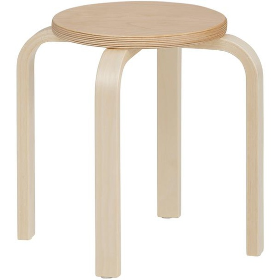 Lüttenhütt 4-Fußstuhl Tipa, in verschiedenen Größen und Höhen, aus Birkenschichtholz, Hocker für Kinder Maße(B/T/H):40/40/35 cm. beige Kinderstühle Kindermöbel Stühle