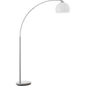 Lüttenhütt Bogenlampe »Klaas«, Stehlampe grau/weiß, E27, max. 40W, H: 166 cm