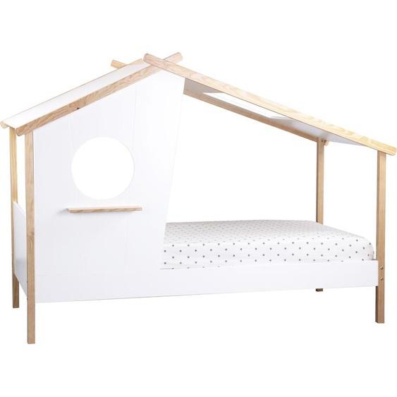 Lüttenhütt Hausbett Dolidoo, zum Spielen und Schlafen 90x200 cm weiß Kinder Kinderbetten Kindermöbel Betten