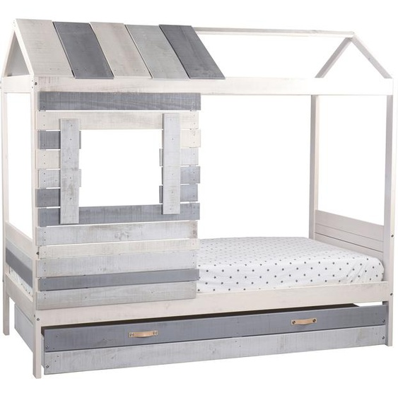 Lüttenhütt Hausbett Drollig, Kinderbett in skandinavischer Gemütlichkeit Liegefläche B/L: 90 cm x 200 cm, Gewicht grau Kinder Kinderbetten Kindermöbel