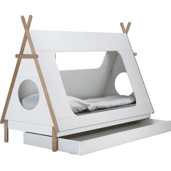 Lüttenhütt Kinderbett Dolidoo, in Zeltform, Hausbett, Zeltbett 90x200 cm weiß Kinder Kinderbetten Kindermöbel Betten