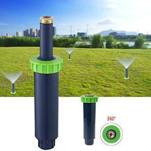 Lunji Automatische Skalierung Bewässerung Rasensprenger, 90/180/360 Grad Bewässerungssystem für Rasen/Garten, mit Einstellbarer Wurfweite (3-4.5 m) (360 Grad)