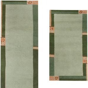Luxor Living Bettumrandung »India«, 14 (2x Brücke 140x70 cm & 1x Läufer 335x70 cm), 20 mm Gesamthöhe, grün