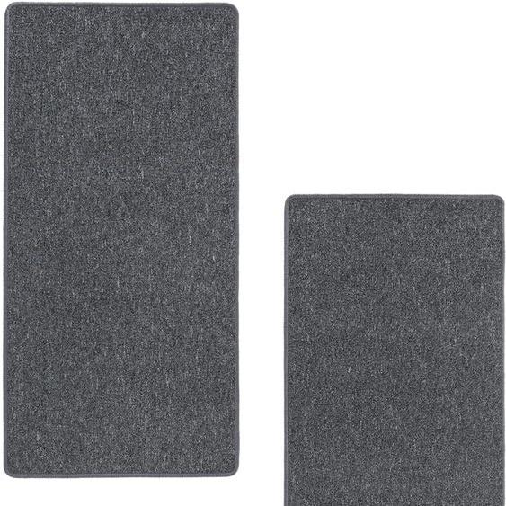 LUXOR living Bettumrandung Luton, Bettvorleger, Läufer-Set für das Schlafzimmer, melierte Optik B/L (Brücke): 67 cm x 140 (2 St.) (Läufer): 180 (1 St.), rechteckig grau Bettumrandungen Läufer Teppiche