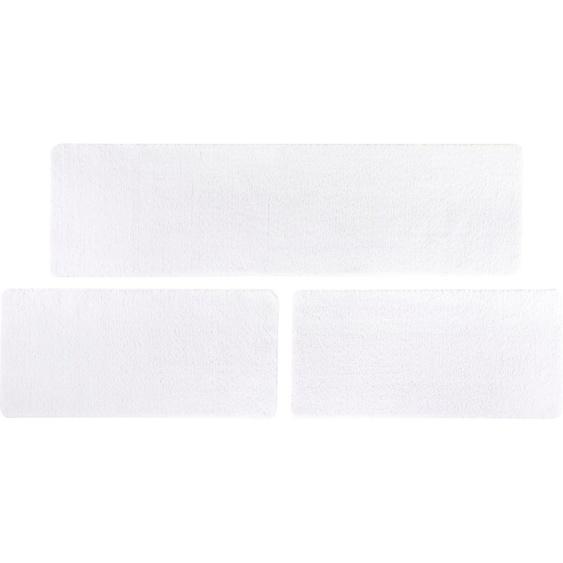 LUXOR living Bettumrandung San Donato, Bettvorleger, Läufer-Set für das Schlafzimmer B/L (Brücke): 67 cm x 140 (2 St.) (Läufer): 240 (1 St.), rechteckig weiß Bettumrandungen Läufer Teppiche