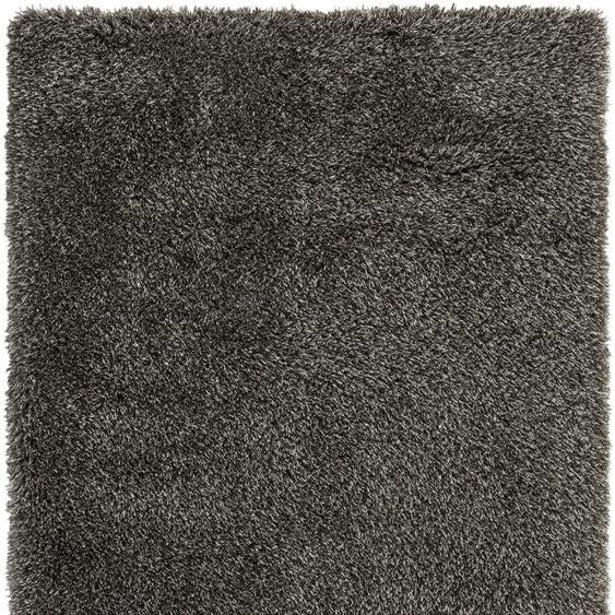 LUXOR living Hochflor-Teppich Churchill, rechteckig, 58 mm Höhe, besonders weich durch Microfaser, Wohnzimmer B/L: 200 cm x 300 cm, 1 St. silberfarben Esszimmerteppiche Teppiche nach Räumen