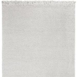 LUXOR living Teppich Morton, rechteckig, 18 mm Höhe, reine Baumwolle, handgewebt, mit Fransen, Wohnzimmer B/L: 130 cm x 190 cm, 1 St. beige Esszimmerteppiche Teppiche nach Räumen