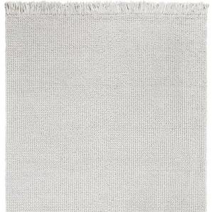 LUXOR living Teppich Morton, rechteckig, 18 mm Höhe, reine Baumwolle, handgewebt, mit Fransen, Wohnzimmer B/L: 170 cm x 240 cm, 1 St. beige Esszimmerteppiche Teppiche nach Räumen