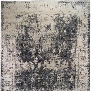 LUXOR living Teppich Rossini, rechteckig, 13 mm Höhe, Vintage Design, Wohnzimmer B/L: 200 cm x 285 cm, 1 St. grau Esszimmerteppiche Teppiche nach Räumen