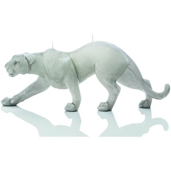 Luxus Design Kerze Panther 44cm Länge Schlamm Handarbeit Kerzen