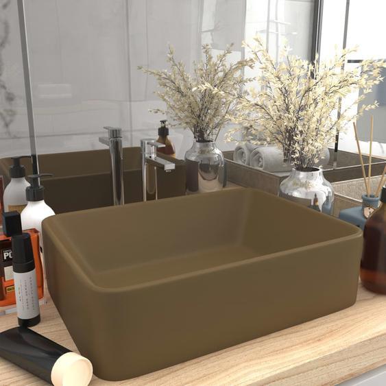 Luxus-Waschbecken Matt Creme 41x30x12 cm Keramik
