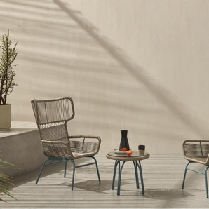 Lyra Lyra 3-tlg. Lounge-Set, Grau und Blau