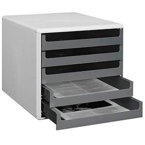 Schubladenbox   dunkelgrau DIN A4 mit 5 Schubladen