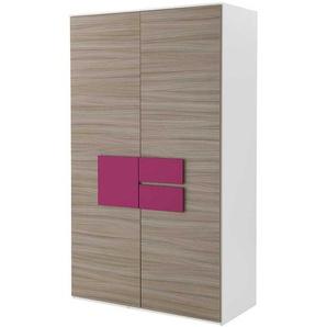 Mädchen Kleiderschrank in Holz Pink 2 Türen