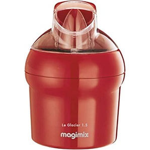 Magimix 11669 Glacier Eismaschine Edelstahl Rot