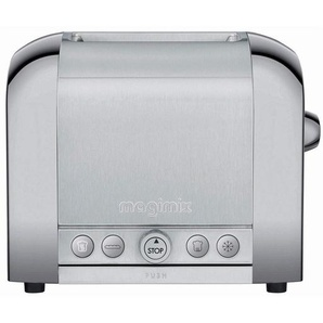 Magimix 2 11517 Toaster, Edelstahl, Glas, silber