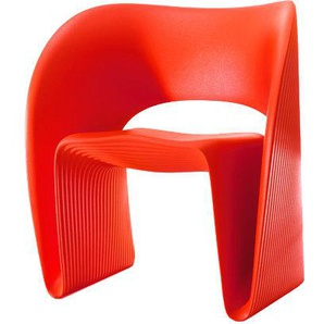 Magis - Low Chair Raviolo - rot - outdoor