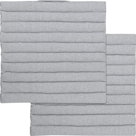 Magma Heimtex Stuhlkissen Arne, mit Griff 2x 40x40 cm, Baumwolle, 2,5 cm grau Sitzkissen Kissen Kopfkissen