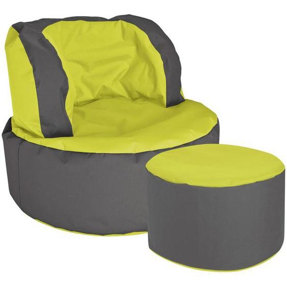 Magma Heimtex Sitzsack »SCUBA Bebop« (Set, 2 St), SITTING POINT mit Hocker, rund, Indoor und Outdoor