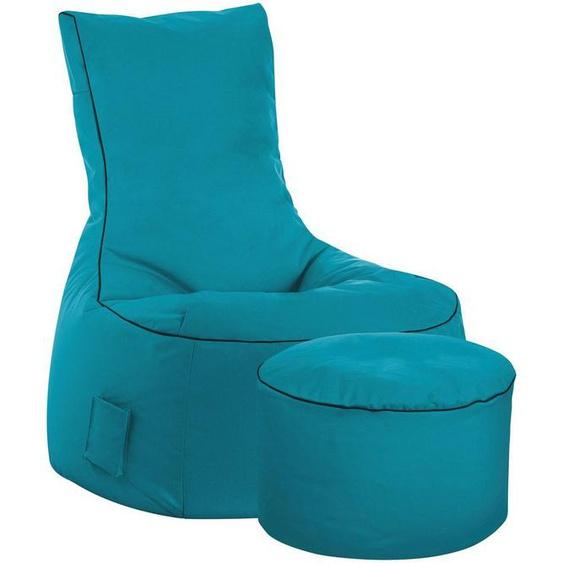Magma Heimtex Sitzsack »SCUBA Swing« (Set, 2 St), SITTING POINT mit Hocker, Indoor und Outdoor
