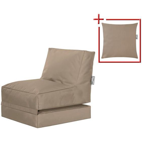 Magma Heimtex Sitzsack »SCUBA Twist« (Set, 2 St), klappbarer SITTING POINT mit Kissen, für Indoor und Outdoor