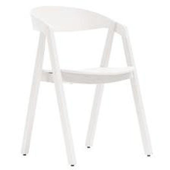 Maigrau - NARDO Stuhl, Eiche, weiß lackiert