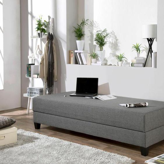 Maintal Gästebett 80x200 cm grau Polsterliegen Gästebetten Betten Faltbetten