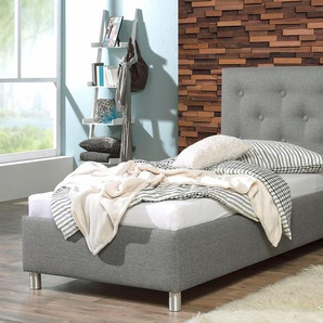 Maintal Polsterbett, auch mit Bettkasten erhältlich Struktur, Liegefläche B/L: 100 cm x 200 Höhe: 112 cm, H3, Bonnell-Federkernmatratze grau Polsterbett Betten Möbel Aufbauservice