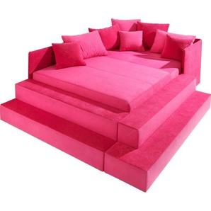 Maintal Polsterbett, rosa, 100/200 cm
