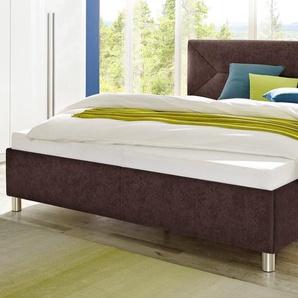 Maintal Polsterbett Microvelours nur Bettgestell, Liegefläche B/L: 140 cm x 200 cm, kein Härtegrad, ohne Matratze braun Betten Möbel mit Aufbauservice