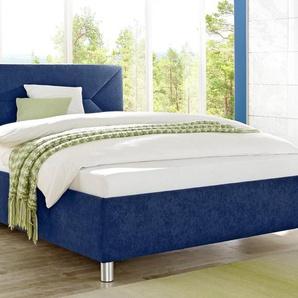 Maintal Polsterbett Microvelours nur Bettgestell, Liegefläche B/L: 180 cm x 200 cm, kein Härtegrad, ohne Matratze blau Betten Möbel mit Aufbauservice