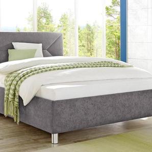 Maintal Polsterbett Microvelours nur Bettgestell, Liegefläche B/L: 180 cm x 200 cm, kein Härtegrad, ohne Matratze grau Betten Möbel mit Aufbauservice