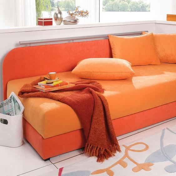 Maintal Polsterliege 90x200 cm, 5-Zonen-Komfortpolsterung, Liegehöhe 38 cm orange Polsterliegen Gästebetten Betten Komplettbetten