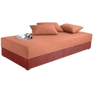 Maintal Einzelliege, 5-Zonen-Komfortpolsterung, orange, 90/200 cm
