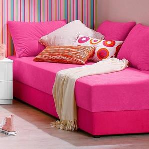 Maintal Einzelliege, 5-Zonen-Komfortpolsterung, rosa, 90/200 cm