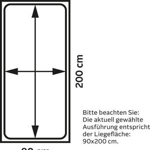 Maintal Polsterliege, Liegehöhe 43 cm, 90x200 cm, schwarz