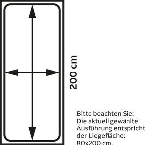 Maintal Polsterliege, Liegehöhe 43 cm, schwarz