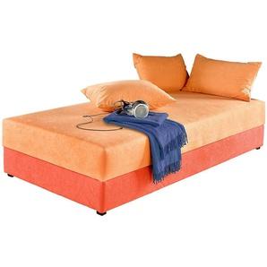 Maintal Einzelliege, 5-Zonen-Komfortpolsterung, orange, 80/200 cm