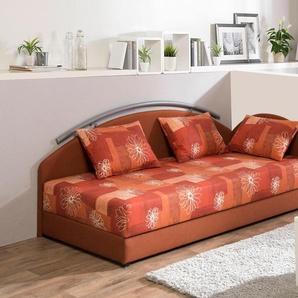 Maintal Studioliege, orange, 80/200 cm