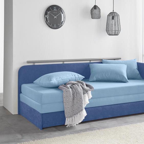 Maintal Schlafsofa 160 cm, Liegehöhe 38 cm blau Kinder Kindersessel Kindersofas Kindermöbel Sofas