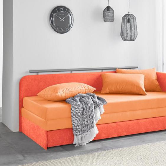 Maintal Schlafsofa 160 cm, Liegehöhe 38 cm orange Kinder Kindersessel Kindersofas Kindermöbel Sofas
