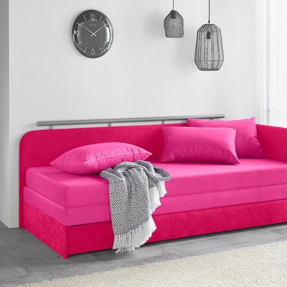 Maintal Schlafsofa 160 cm, Liegehöhe 38 cm rosa Kinder Kindersessel Kindersofas Kindermöbel Sofas