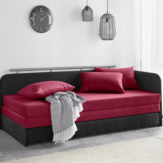 Maintal Schlafsofa 160 cm, Liegehöhe 38 cm rot Kinder Kindersessel Kindersofas Kindermöbel Sofas
