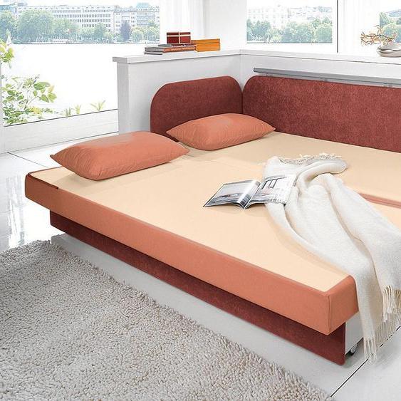 Maintal Schlafsofa 160 cm, Liegehöhe 55 cm orange Kinder Kindersessel Kindersofas Kindermöbel Sofas