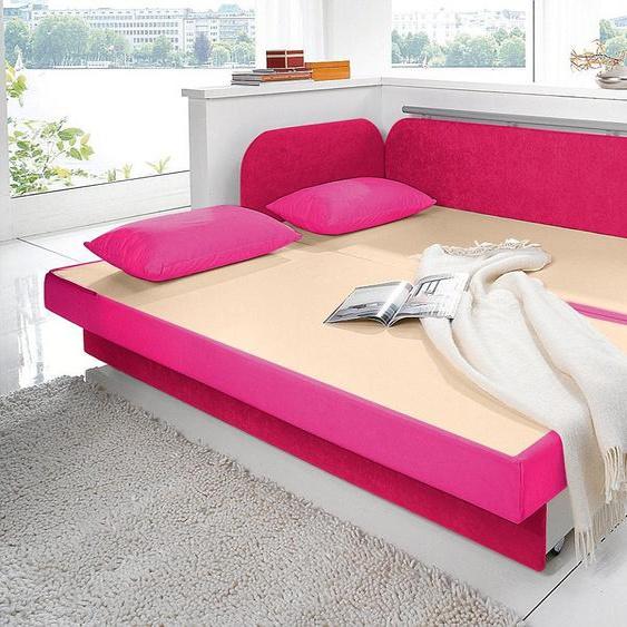 Maintal Schlafsofa 160 cm, Liegehöhe 55 cm rosa Kinder Kindersessel Kindersofas Kindermöbel Sofas