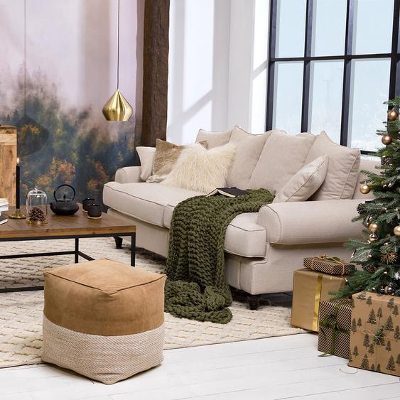 Maison Belfort Bigsofa Seelow Creme Webstoff 230x100x90 cm