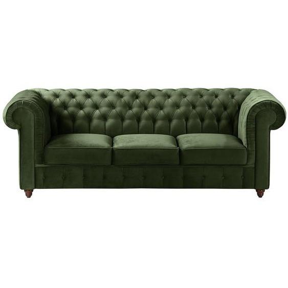Maison Belfort Sofa Pintano 3-Sitzer Antikgrün Samt 223x77x92 cm