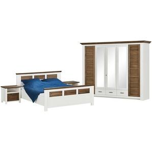 Komplett-Schlafzimmer 4-teilig | weiß | 284 cm | 217 cm | 64 cm | Möbel Kraft