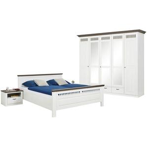 Woodford Schlafzimmer, 4-teilig  Monza | weiß | 262 cm | 221 cm | 63 cm | Möbel Kraft