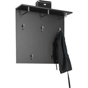 Maja Möbel Garderobenpaneel 0, 90x26,8x86 cm grau Garderobenpaneele Garderoben